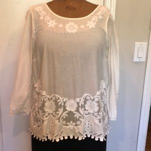 Stunning blouse with sequins and toile